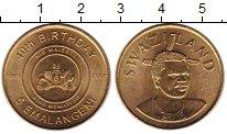 Изображение Монеты Свазиленд 5 эмалангени 2008 Медь UNC 40 - летие  короля