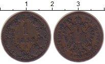 Изображение Монеты Австрия 1 крейцер 1858 Медь VF