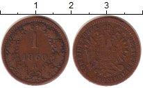 Изображение Монеты Австрия 1 крейцер 1860 Медь VF