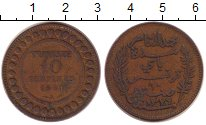 Изображение Монеты Тунис 10 сантим 1911 Медь VF