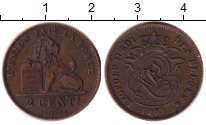 Изображение Монеты Бельгия 2 сантима 1909 Бронза XF