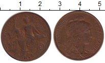 Изображение Монеты Франция 5 сантим 1912 Бронза XF