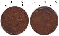 Изображение Монеты Франция 5 сантим 1915 Бронза VF