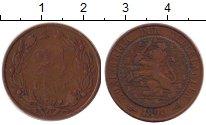 Изображение Монеты Нидерланды 2 1/2 цента 1890 Бронза VF