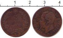 Изображение Монеты Италия 2 сентесимо 1861 Бронза VF