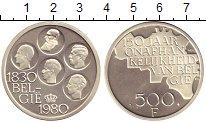 Изображение Монеты Бельгия 500 франков 1980 Серебро Proof 150 лет Бельгии. 5 к