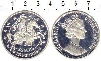 Изображение Монеты Гибралтар 35 экю 1992 Серебро Proof Елизавета II.  Рыцар