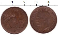 Изображение Монеты Италия 10 сентесим 1921 Бронза XF Виктор  Эммануил III