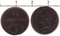 Изображение Монеты Франция 1 сентим 1850 Медь VF