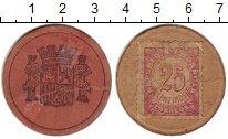 Изображение Монеты Испания 25 сентим 1937 Картон VF Революция. Токен.