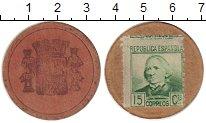 Изображение Монеты Испания 15 сентим 1937 Картон VF