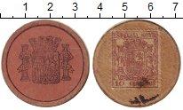Изображение Монеты Испания 10 сентим 1937 Картон VF Революция. Токен.