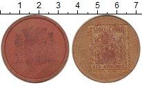 Изображение Монеты Испания 10 сентим 1937 Картон VF