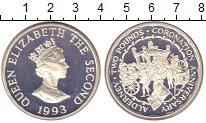 Изображение Монеты Олдерни 2 фунта 1993 Серебро Proof-