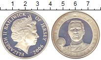 Изображение Монеты Остров Джерси 5 фунтов 2006 Серебро Proof Елизавета II.  Бобби