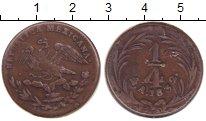 Изображение Монеты Мексика 1/4 реала 1832 Медь XF