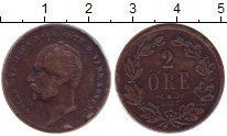 Изображение Монеты Швеция 2 эре 1857 Бронза XF Оскар