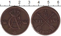 Изображение Монеты Швеция 1/2 скиллинга 1807 Медь XF