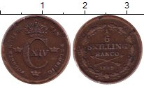 Изображение Монеты Швеция 1/6 скиллинга 1839 Медь XF Карл XIV.