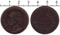 Изображение Монеты Саравак 1 цент 1886 Медь XF Раджа К. Брук.