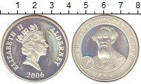 Изображение Монеты Олдерни 5 фунтов 2006 Серебро Proof- Елизавета II.  Чарль