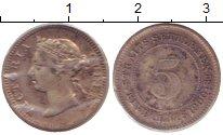 Изображение Монеты Стрейтс-Сеттльмент 5 центов 1900 Серебро XF
