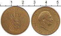 Изображение Монеты Дания 1 крона 1957 Медь XF