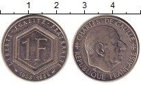 Изображение Монеты Франция 1 франк 1988 Медно-никель XF