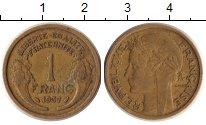 Изображение Монеты Франция 1 франк 1937 Медно-никель XF