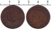 Изображение Монеты Великобритания 1/2 пенни 1949 Медь XF