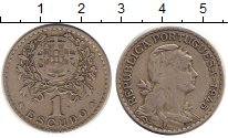 Изображение Монеты Португалия 1 эскудо 1945 Медно-никель VF