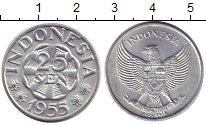 Изображение Монеты Индонезия 25 сен 1955 Алюминий XF