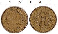 Изображение Монеты Тунис 2 франка 1941 Медь XF