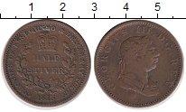 Изображение Монеты Эссекуибо и Демерара 1/2 стивера 1813 Медь XF Протекторат  Британи