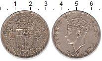 Изображение Монеты Родезия 1/2 кроны 1942 Серебро XF Георг VI.