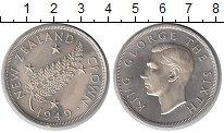 Изображение Монеты Новая Зеландия 1 крона 1949 Серебро UNC