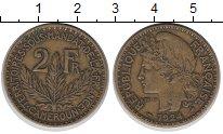 Изображение Монеты Камерун 2 франка 1924 Медь XF