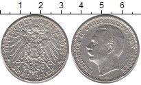 Изображение Монеты Баден 3 марки 1914 Серебро XF-