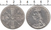 Изображение Монеты Великобритания 2 флорина 1889 Серебро XF+