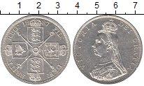 Изображение Монеты Великобритания 2 флорина 1887 Серебро UNC-