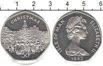 Изображение Монеты Остров Мэн 50 пенсов 1982 Серебро Proof