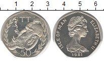 Изображение Монеты Остров Мэн 50 пенсов 1981 Серебро Proof