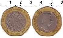 Изображение Монеты Иордания 1/2 динара 2000 Биметалл XF