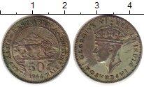 Изображение Монеты Восточная Африка 50 центов 1944 Серебро VF