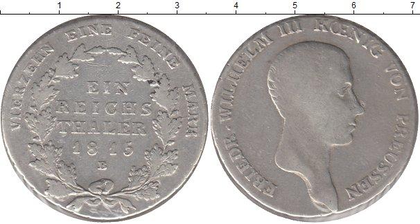 Картинка Монеты Пруссия 1 талер Серебро 1815