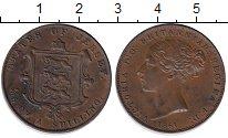 Изображение Монеты Остров Джерси 1/26 шиллинга 1861 Медь XF+
