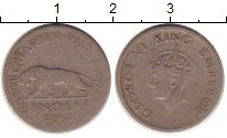 Изображение Монеты Индия 1/4 рупии 1947 Медно-никель VF Георг VI.