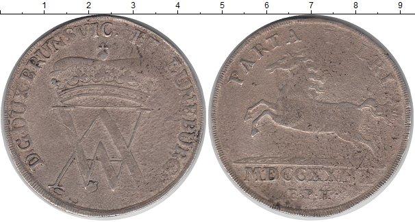 Картинка Монеты Брауншвайг-Вольфенбюттель 1 талер Серебро 1729