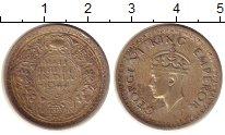 Изображение Монеты Индия 1/2 рупии 1944 Серебро XF