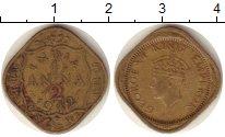 Изображение Монеты Индия 1/2 анны 1942 Медь XF